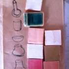 Selecting glaze colours