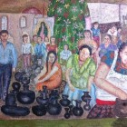 Mural on the wall of the place I had lunch